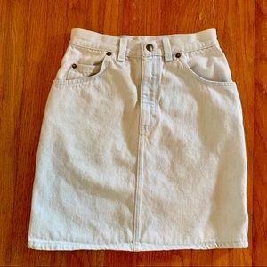 Dresses & Skirts - Vintage light denim skirt
